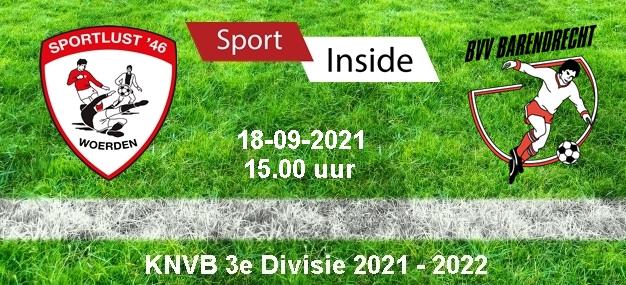 Sportlust '46 – VV Barendrecht > 18-09-2021