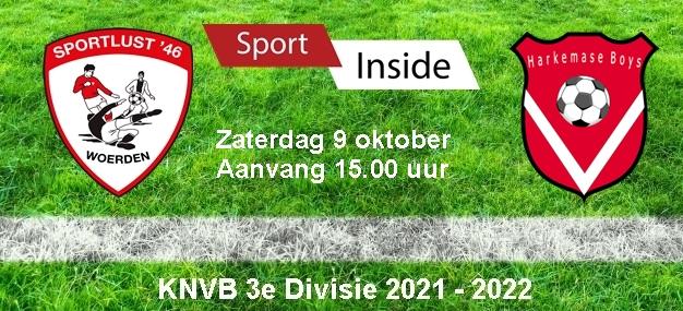 Sportlust '46 – Harkemase Boys > 09-10-2021